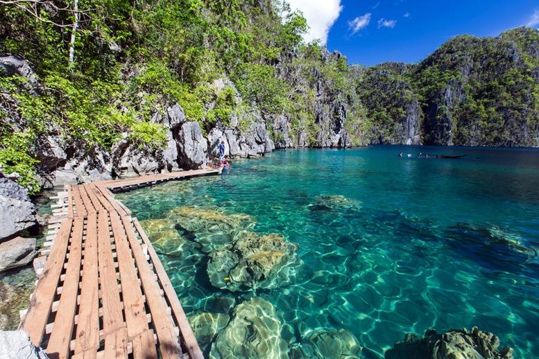 Beautiful lake Kayangan, Coron
