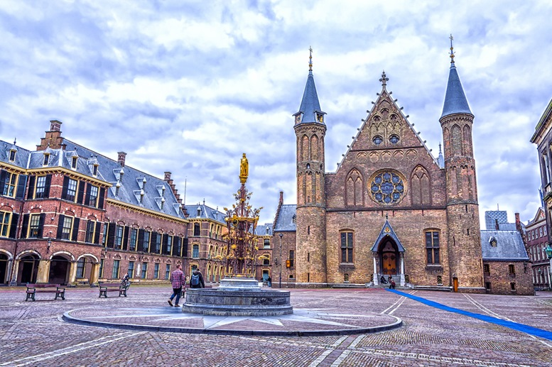 Binnenhof palace, place of dutch parliament in Hague (Den Haag)