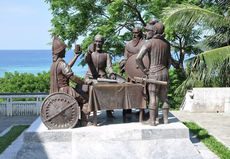 Blood Compact shrine monument in Bohol.