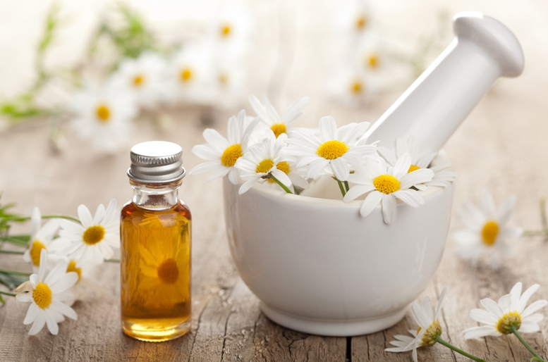 Chamomile Flowers and Essential Oil 2