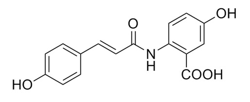 Chemical structure of avenanthramide.
