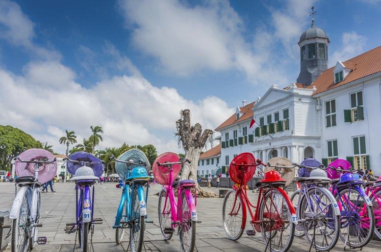 Colorful Bicycles - Kota Tua, Jakarta