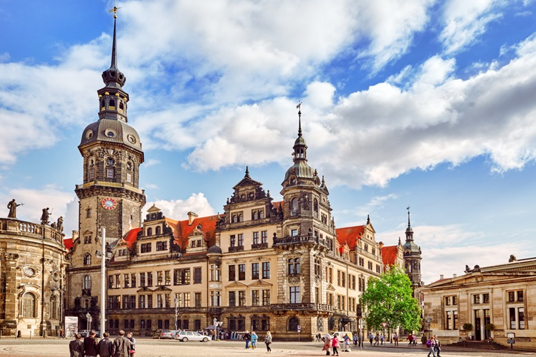 Dresden Castle (Green Vault) in the historic center of Dresden