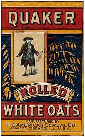 Early packaging of the Quaker Oats