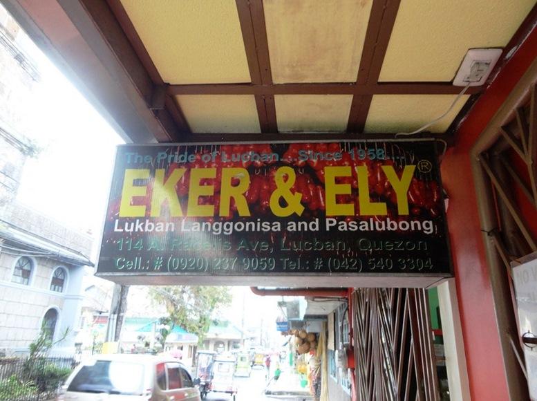 Eker and Ely Lucban Longganisa and Pasalubong