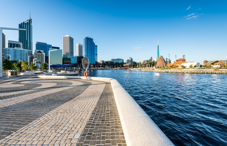 Elizabeth Quay - where the Swan River meets the southwest coast.