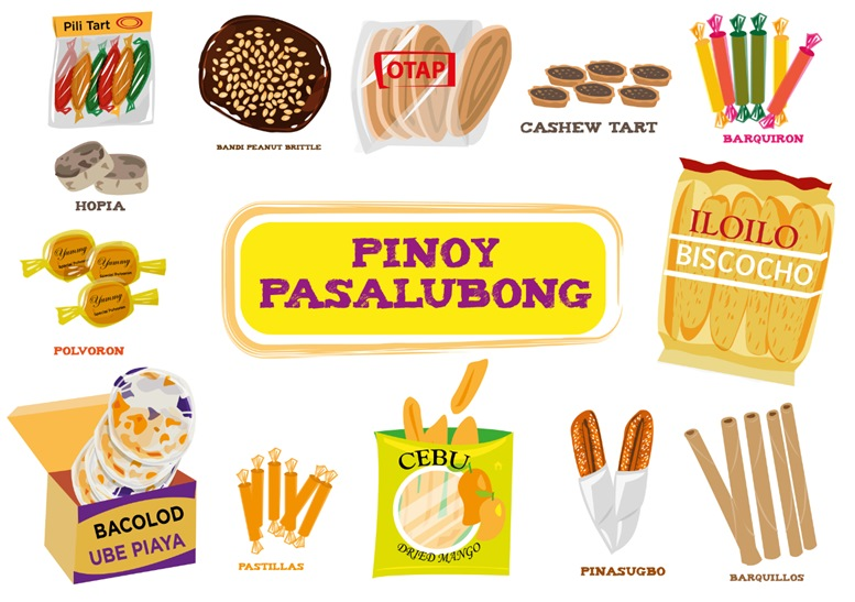 Filipino delicacies sold as gifts for loved ones and friends called Pasalubong.