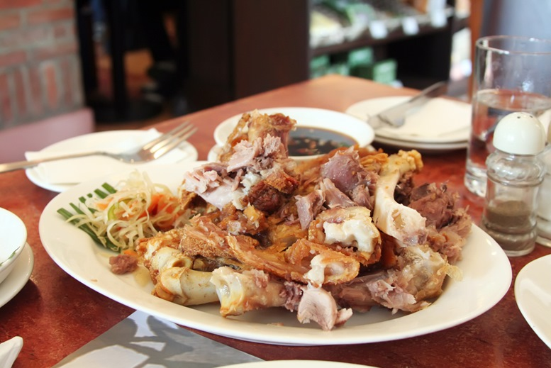 Fried pork crispy pata traditional Philippino dish