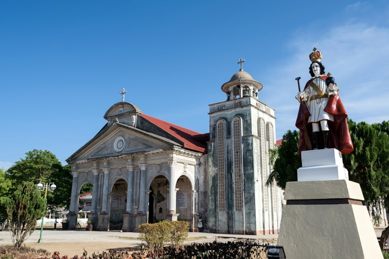 Front view of the Saint Augustine Church of Panglao, Bohol
