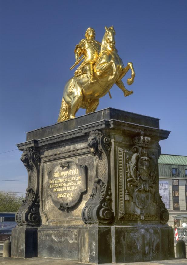 Golden Horseman in Dresden