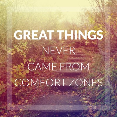 Great things never came from comfort zones - picture quote