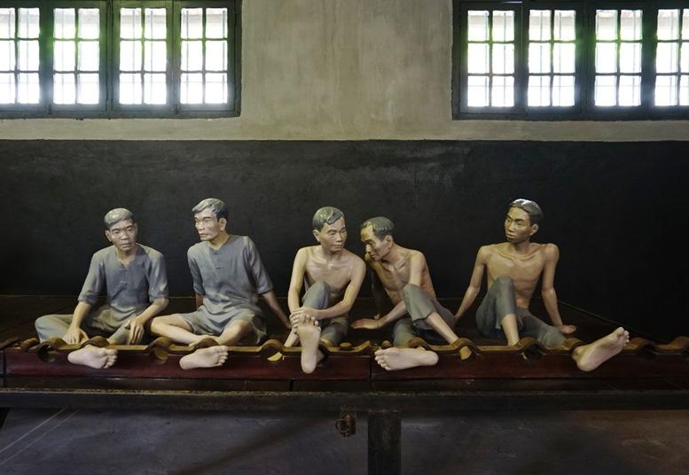 Hoa Lo Prison Museum Wax Figures