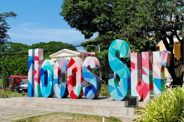Ilocos Sur Colorful Sign Board