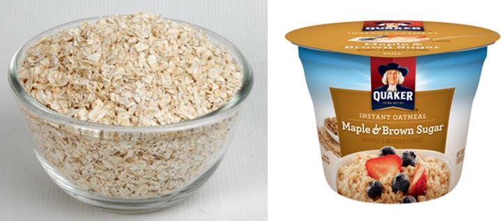 Instant oat and commercial products