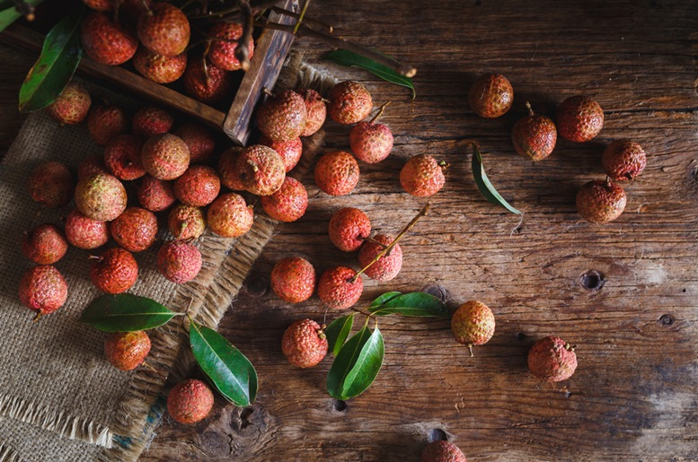 Just Harvested Organic Lychees