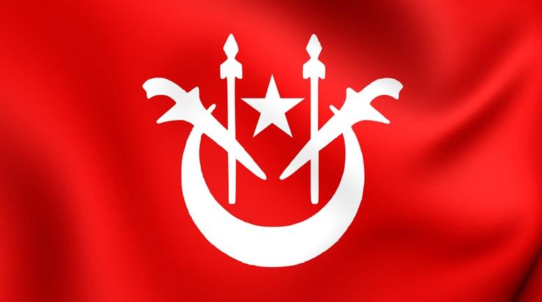 Kelantan Red and White Flag