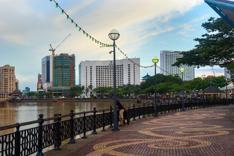 Kuching city waterfront