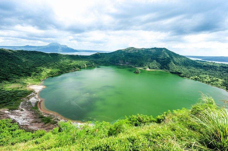 Lake crater at Taal volcano