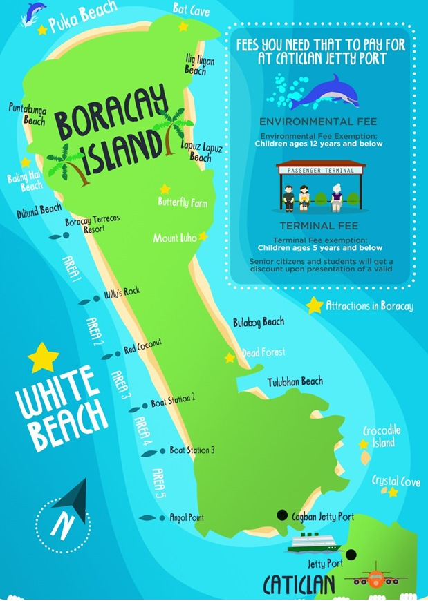 Map of Boracay Island - Infographic Image #6