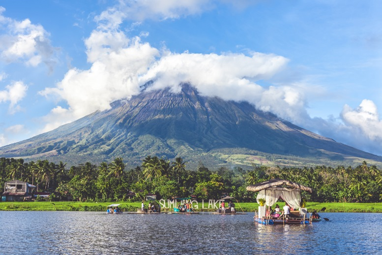 Mayon Volcano by Sumlang Lake