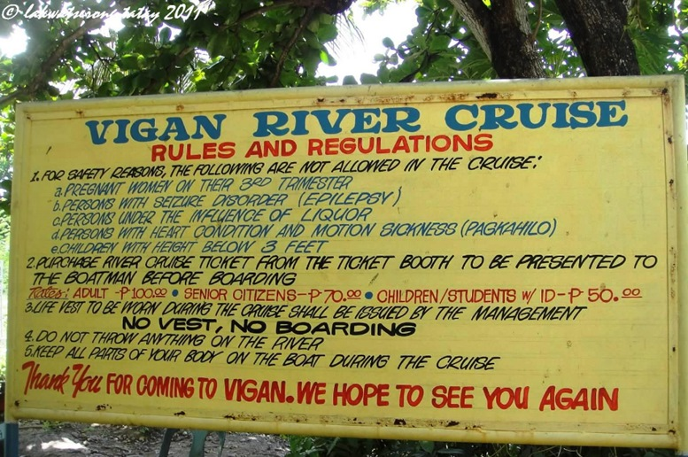 Mestizo River Rules and Regulations