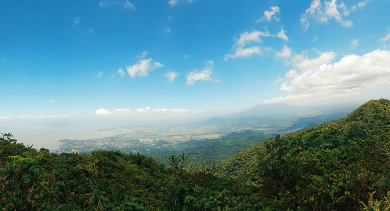 Scenic View from the Mountain's Peak of Mount Makiling