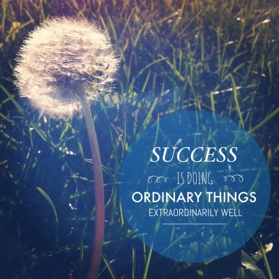 Success is doing ordinary things extraordinarily well - picture quote