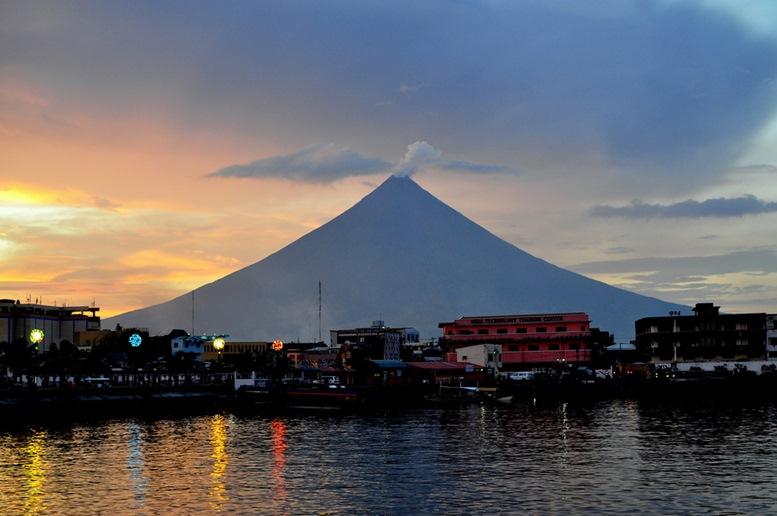 Sunset at Albay, Philippines