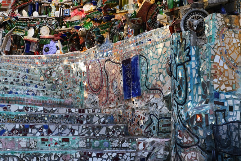 The Philadelphia Magic Gardens is a unique destination in the artistic district along South Street.