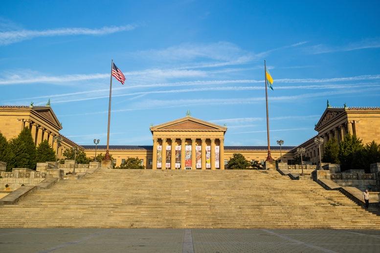 The Philadelphia Pennsylvania Museum of Art and the Rocky Steps