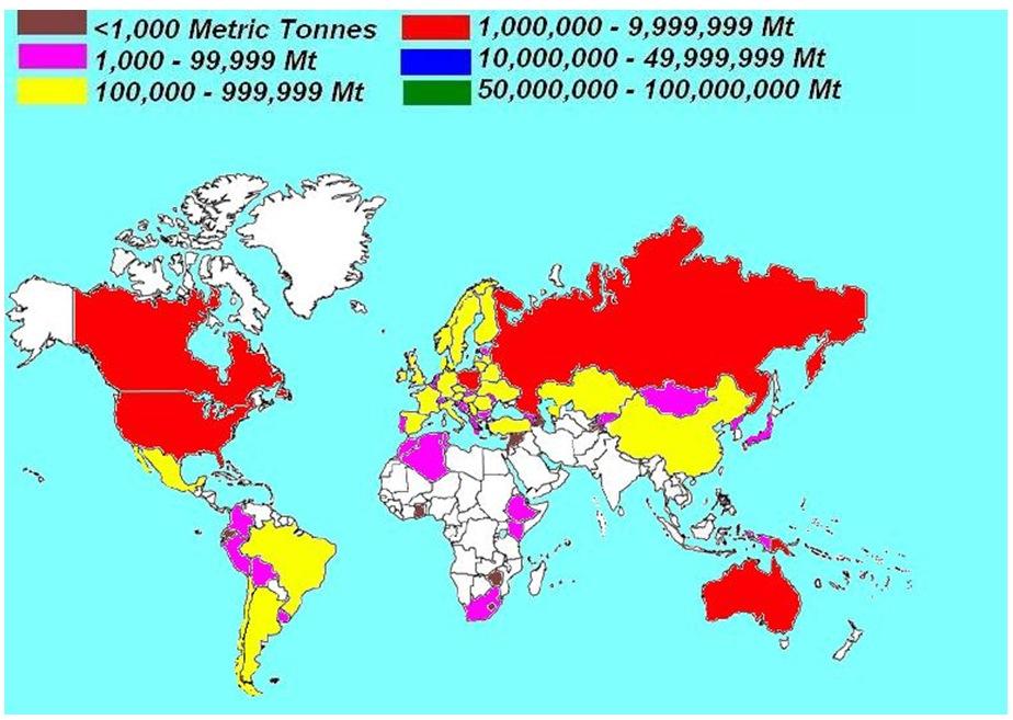 Worldwide oat production