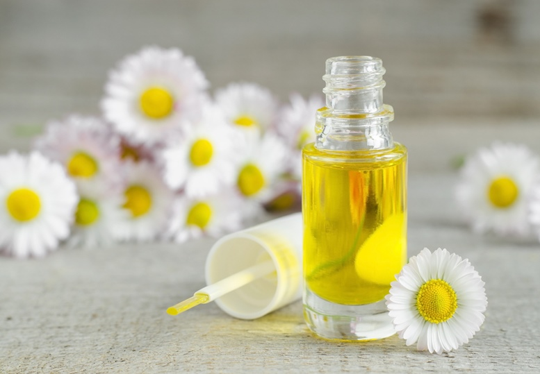 cosmetic chamomile oil for nail and cuticle care
