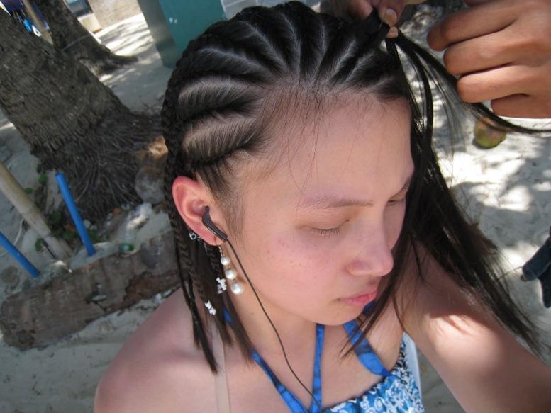 hair braiding boracay